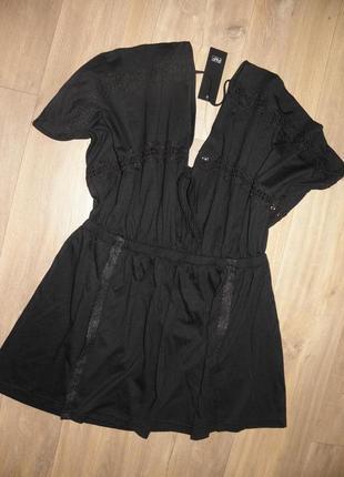 Платье- туника с перфорацией f&f