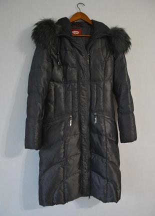 Серый зимний пуховик daser