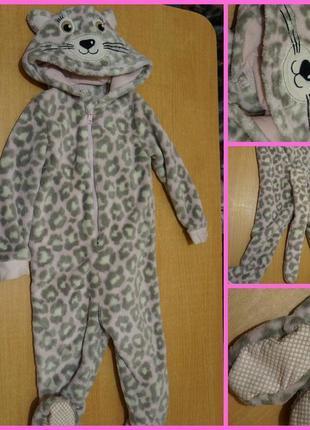 George махровый человечек 1-1,5 года чоловічок котек костюм махровий кіт кішка