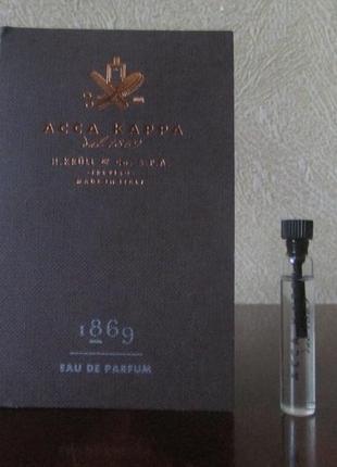 Парфюмированная вода 1869 eau de parfum acca kappa 2 мл