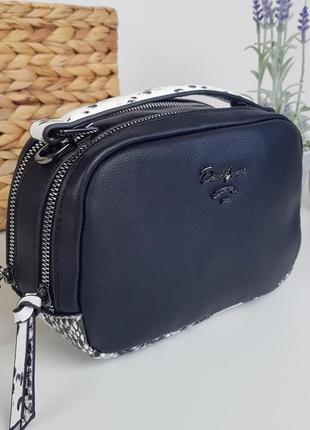 #5963 black david jones стильная компактная сумочка кроссбоди!