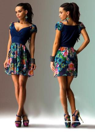 Платье- сарафан женский мини. шифон1 фото