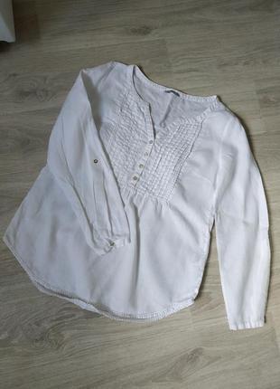 Женская рубашка,белоснежная рубашка,льняная женская рубашка , рубашка из льна