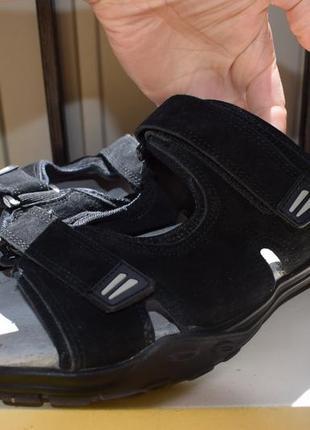 7d38145ad Фирменные шлепанцы шлепки сланцы тапки сандали замшевые+кожа на липучках