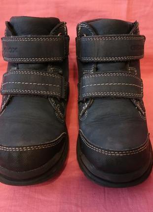 ce72f90e1 Фирменные кожаные демисезонные ботинки geox с мембраной amphibiox  (оригинал) - 30 размер