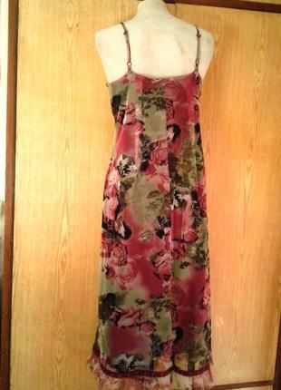 Платье из мелкой трикотажной сетки, xl.