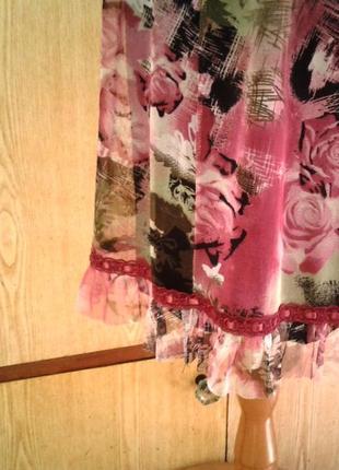 Платье из мелкой трикотажной сетки, xl.8 фото