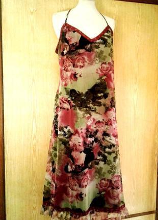 Платье из мелкой трикотажной сетки, xl.2 фото