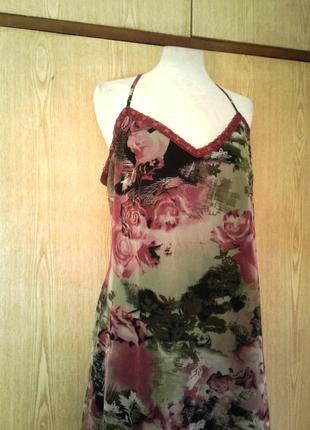 Платье из мелкой трикотажной сетки, xl.4 фото