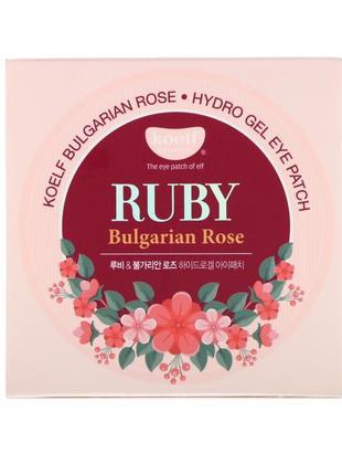 Гидрогелевые патчи для глаз petitfee & koelf ruby & bulgarian rose eye patch
