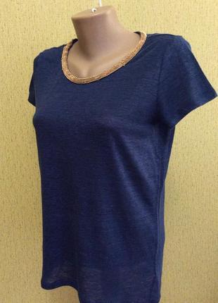 Женская футболка michael kors оригинал 72% лён 28% полиэстер размер m
