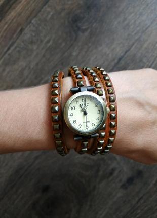 Часы браслет, бронза