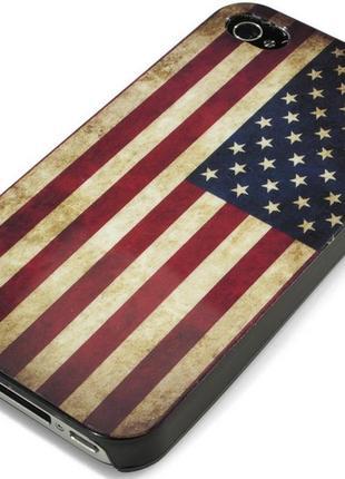 Чехол на ipone 4/4s флаг америки