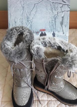 Шикарные сапожки дутики 30р antarctica