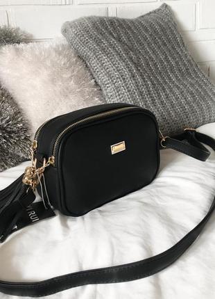 Хітова сумочка кроссбоді на довгому ремінці на дві блискавки