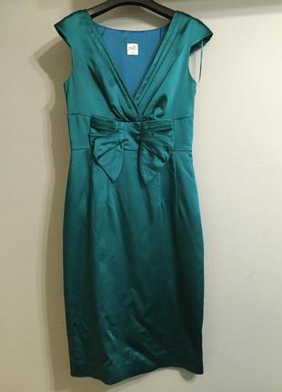 Атласное платье миди oasis