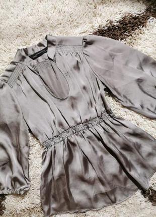 Атласная блуза zara