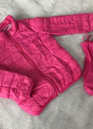 Легкая курточка-пуховик для девочки🦄