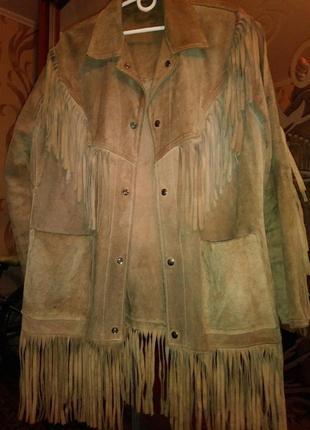 Курточка осень-весна натуральный замш