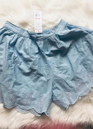 Фирменные джинсовые юбка/шорты