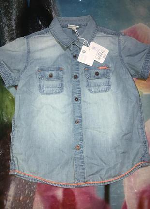 Джинсовая рубашка на мальчика 2,5-3 года