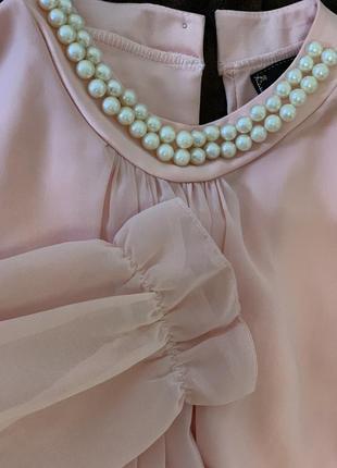 Невероятная блузка цвета пудры
