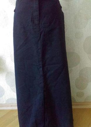 Обалденная длинная юбка из натуральной ткани оригинал