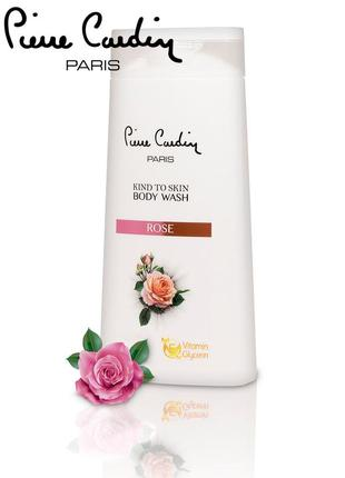 Pierre cardin kind to skin гель для душа с экстрактом розы