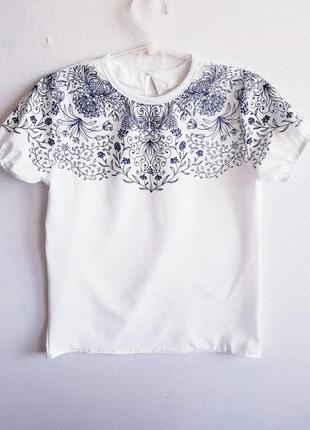 """🌼 стильная школьная блузка """"ажур"""" с длинным рукавом"""