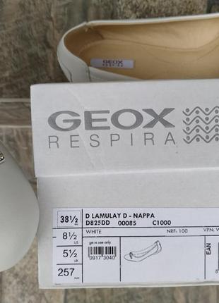 Женские новые мокасины geox respira 38 - 38,5 р. балетки кожаные8 фото