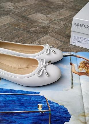 Женские новые мокасины geox respira 38 - 38,5 р. балетки кожаные10 фото