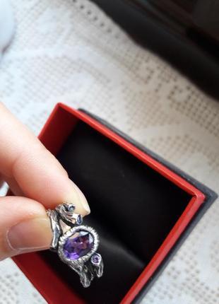 Кольцо серебряное с аметистом kochut