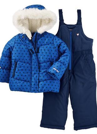 Комбинезон 2в1 зимний для девочки ошкош (куртка+штаны) в наличии