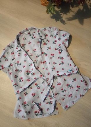 Брендовая блузка хлопок zara