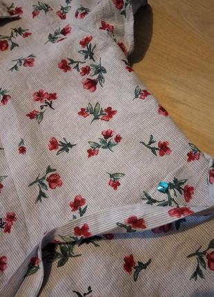 Брендовая блузка хлопок zara4 фото