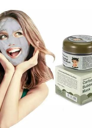 Маска для лица carbonated bubble clay mask bioaqua