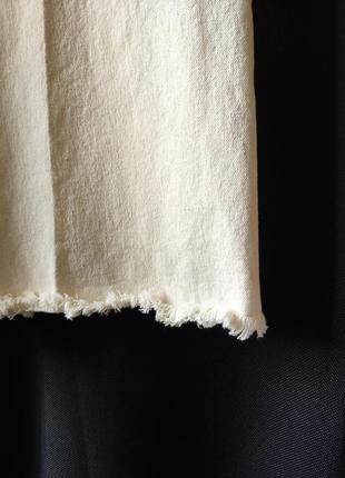 Бежевые укороченные джинсы кюлоты с необработанным низом h&m, размер 447 фото