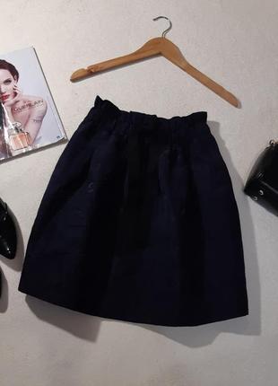 Красивая стильная юбка с фактурным рисунком. размер xs