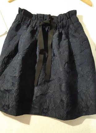 Красивая стильная юбка с фактурным рисунком. размер xs3 фото