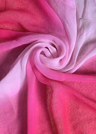 Красивейший амбре шелковый платок шелк натуральный сумочный шейный носовой платок