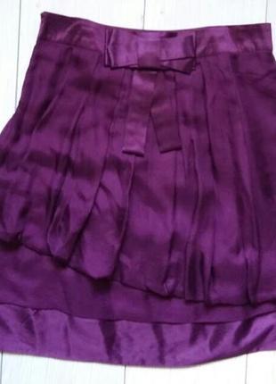 Многослойная шелковая юбка guess