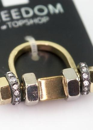 Стильное модное кольцо от топшоп