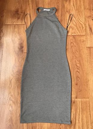 01213d8b9 Шикарное новое платье с американской проймой zara размер s, серое