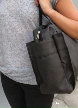 Большая сумка с длиной ручкой4 фото