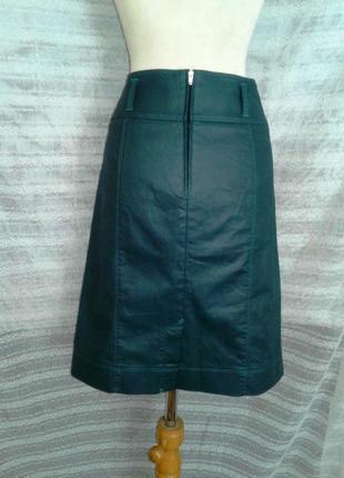 Зелёная шелестящая юбка ,м-l.