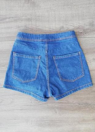 Джинсовые шорты с высокой талией pull&bear