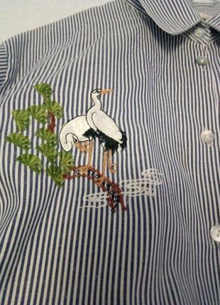 Стильная рубашка с принтом на груди
