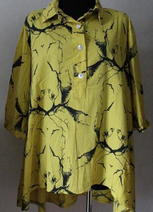 Рубашка- туника ,коттон ,54-56 размер