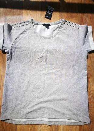 Серая утепленная футболка esmara!