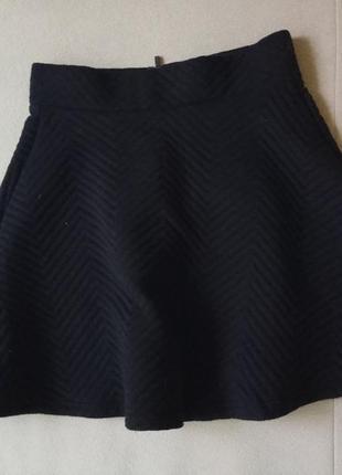 1+1=3 юбка полусолнце из фактурной ткани в елочку
